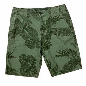 Old Navy Green Monstera Plant Print Shorts
